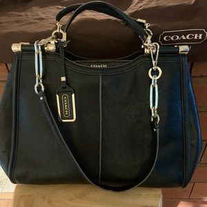 Coach textured leather tote